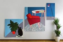 Triptych «Room 60 210х170